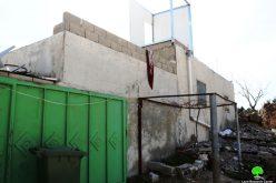 هدم ومصادرة منشأة سكنية في قرية الرفاعية شرق يطا / محافظة الخليل
