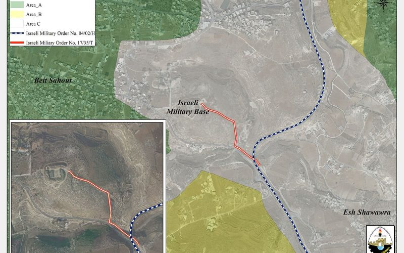 A Land Seizure orders targets the lands of Beit Sahour city <<The Ush Ghurab Site>>