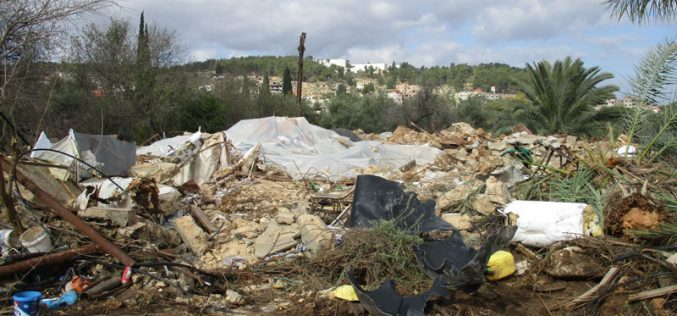 "Israeli Occupation Forces demolish residences in Jenin governorate on ""Security"" claims"