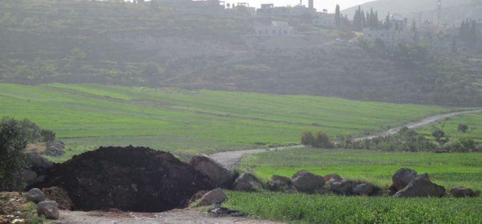 Israeli Occupation Forces seal off Al-Mughayyir village entrance