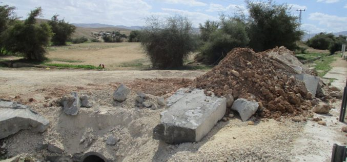 Israeli Occupation Forces close roads and demolish houses in Jericho governorate