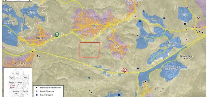 """المستعمرون يشرعون بتجريف 155 دونماً في منطقة """" ظهر صبح"""" جنوب بلدة بديا / محافظة سلفيت"""