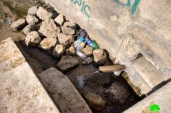 Israeli Occupation Forces close water spring and assault farmers south Hebron Governorate
