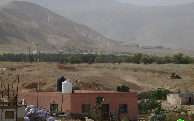 الاحتلال الاسرائيلي يمنع استغلال المراعي شمال غرب منطقة النويعمة / محافظة أريحا