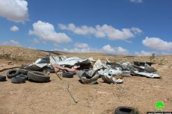 Israeli Occupation Forces demolish agricultural structure in the Hebron village of Al-Fakhit  Violation: demolition of agricultural house