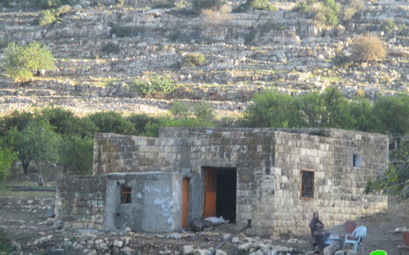 Demolition of structures and confiscation of items in the Salfit area of Wad Qana