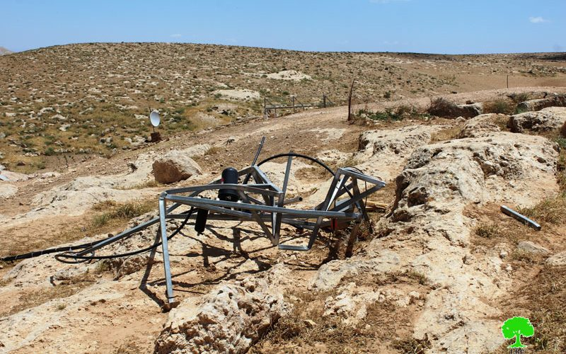 Israeli Occupation Forces demolish agricultural and residential structures in Hebron