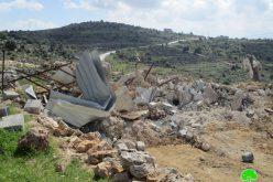 Israeli Occupation Forces demolish agricultural barrack in Ramallah