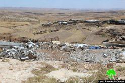 الاحتلال يهدم منشآت سكنية وزراعية في قرية جنبة بمسافر يطا  محافظة الخليل