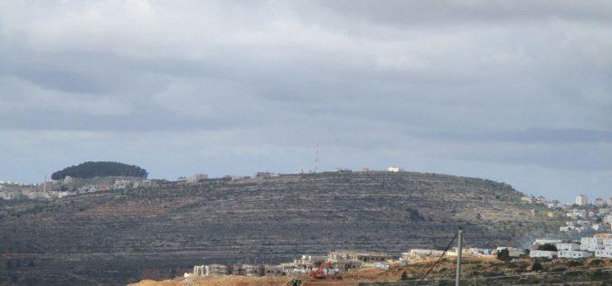 شرعنة البؤرة الاستعمارية  حورشة على أراض قرية المزرعة الغربية  محافظة رام الله