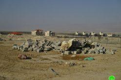هدم غرفة زراعية وسياج زراعي في منطقة العوجا محافظة أريحا