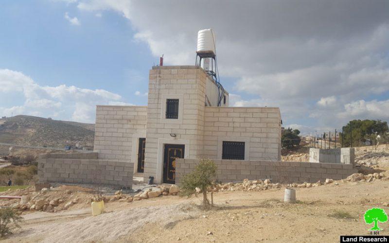 إخطار بوقف العمل لـ 3 مساكن في قرية زعترة  محافظة بيت لحم