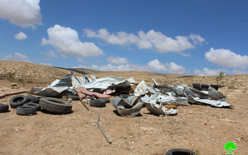 Israeli Occupation Forces demolish agricultural structure in the Hebron village of Al-Fakhit  Violation: demolition of agricultural house