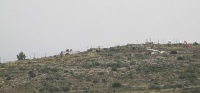 الشروع بتوسعة نفوذ بؤرة استعمارية على حساب أراضي قرية ياسوف  محافظة سلفيت