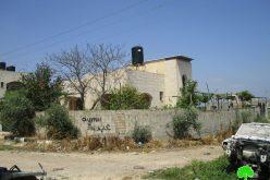 اخطار بهدم منزل عائلة الأسير احمد جمال محمد قمبع في مدينة جنين