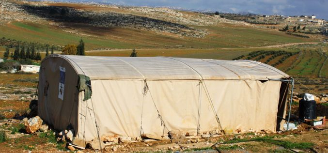 Stop-work orders on residences in the Hebron town of AL-Samou