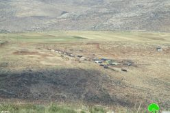 إخطار عسكري بإخلاء خمسة عائلات في منطقة حمصة الفوقا بحجة التدريبات العسكرية محافظة طوباس