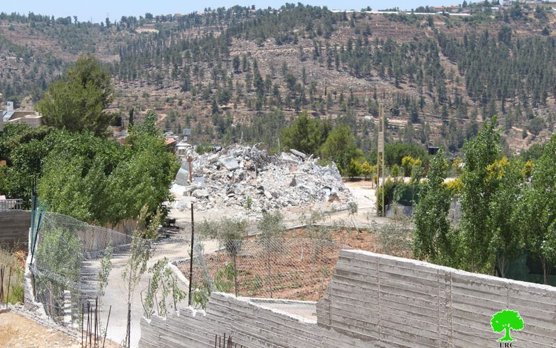 Israeli Occupation Forces demolish four residences in Bethlehem governorate