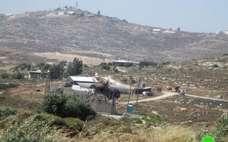 بؤرة استعمارية جديدة ونقطة مراقبة عسكرية في محيط مستعمرة  عادي عاد على أراض بلدة ترمسعيا  محافظة رام الله