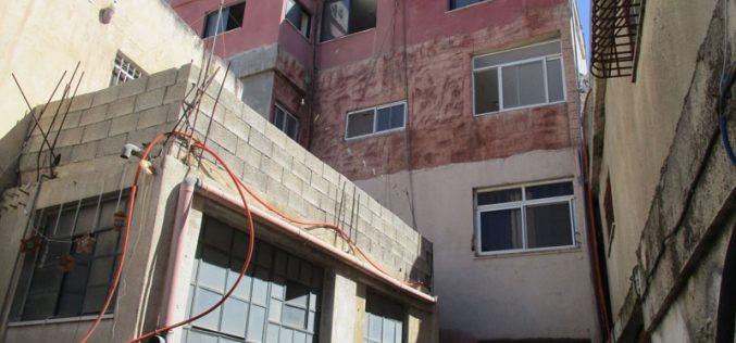 قرار عسكري بهدم منزل في مخيم الامعري محافظة رام الله