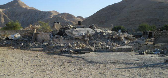 هدم منزلين قيد الإنشاء في منطقة الديوك التحتا / محافظة أريحا