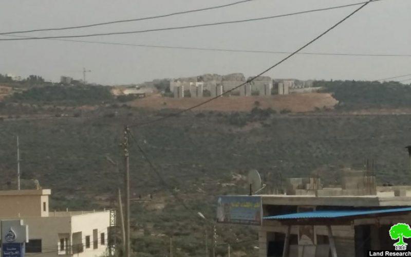 إنشاء حي سكني جديد في مستعمرة ارائيل محافظة سلفيت