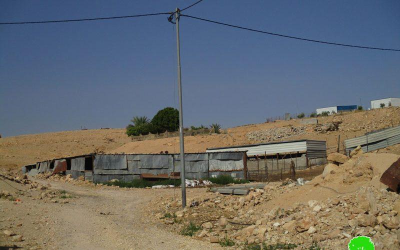 إخطارات بوقف البناء تطال أربعة مساكن في تجمع عرب الزايد بقرية النويعمة محافظة أريحا