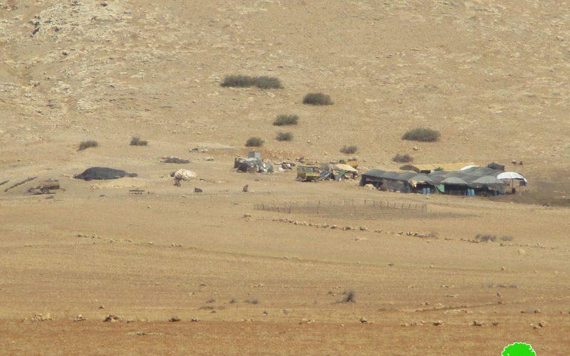 جيش الاحتلال الاسرائيلي يخطر بإخلاء خربة يرزا في الأغوار الشمالية بحجة التدريبات العسكرية