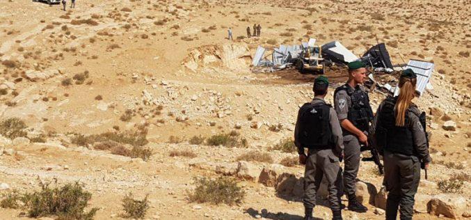 الاحتلال يهدم منشاة زراعية في قرية الطوبا شرق يطا  محافظة الخليل