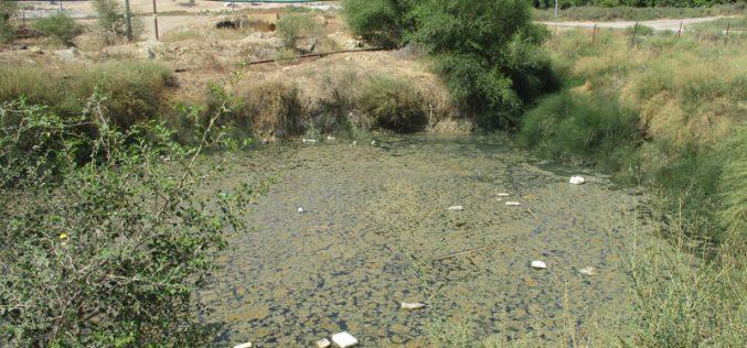 جيش الاحتلال يمنع تأهيل بركة مائية في عين الدير / محافظة طوباس