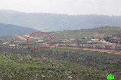 البدء فعلياً بإنشاء مستعمرة  عميحاي على أراضي قرية جالود محافظة نابلس