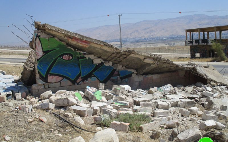 الاحتلال الاسرائيلي يهدم مسكن زراعي في منطقة أم العبر شمال مدينة اريحا