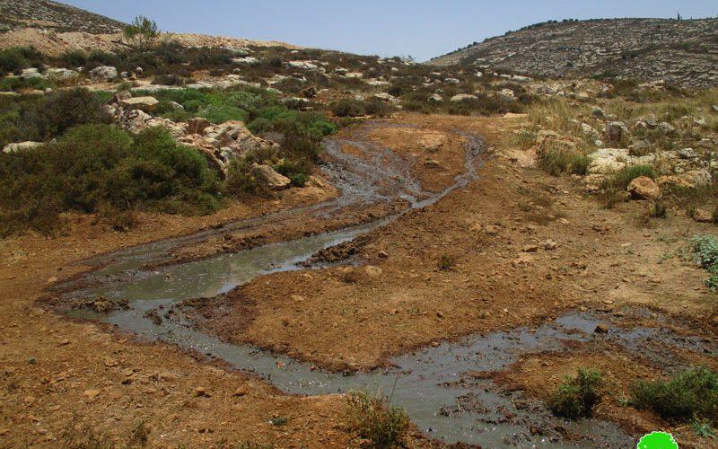 مستعمرة  عمنحاي خطر يهدد الزراعة و البيئة الفلسطينية في بلدة ترمسعيا