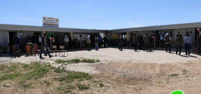 Israeli Occupation Forces demolish primary school of Zanuta hamlet in Hebron