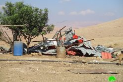 Demolition of residential and agricultural constructions in Khirbet Al-Hadidiya / Tubas