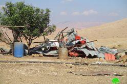 هدم منشآت سكنية وزراعية في خربة الحديدية / محافظة طوباس