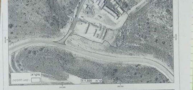 إخطار عسكري بمصادرة 8 دونم من الأراضي الزراعية في بلدة الزاوية / محافظة سلفيت