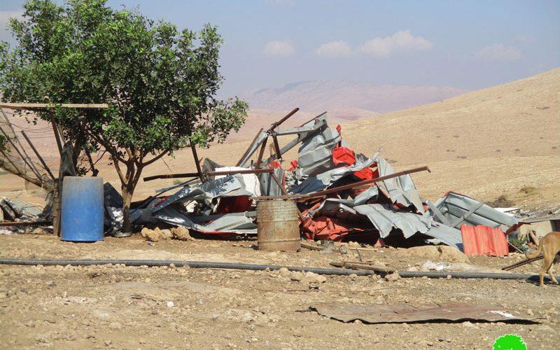 Demolition of residential and agricultural constructions in Khirbet Al-Hadidiya / Tubas