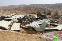 Demolition of an agricultural construction in Ghuwein hamlet/ Hebron