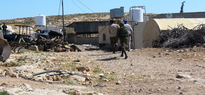 The occupation threatens to demolish citizens' homes in Ghuwein Hamlet – As Samu'
