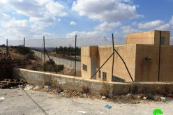 The occupation delivers notices to a business firm in Beit 'Awwa/ west Hebron