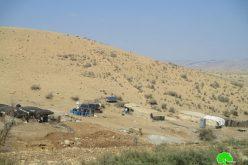 الاحتلال الاسرائيلي يخطر بهدم مساكن ومنشآت زراعية في خربة الحديدية/ محافظة طوباس