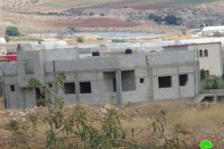 Stop-Work order of 2 residence in Mas'ud hamlet-Jenin.