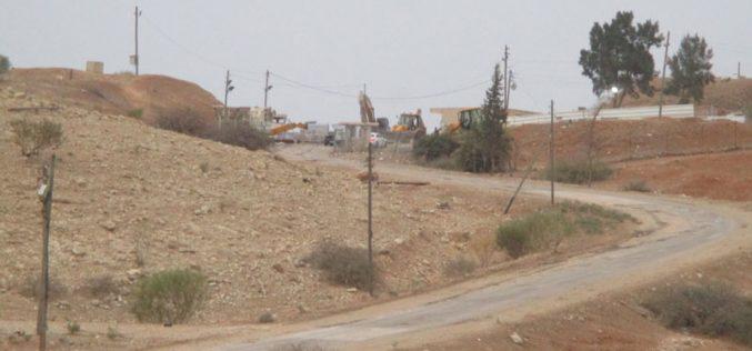 """الشروع بتوسعة مدخل معسكر """" ناحل"""" وإضافة المزيد من الغرف المتنقلة إليهمحافظة طوباس"""