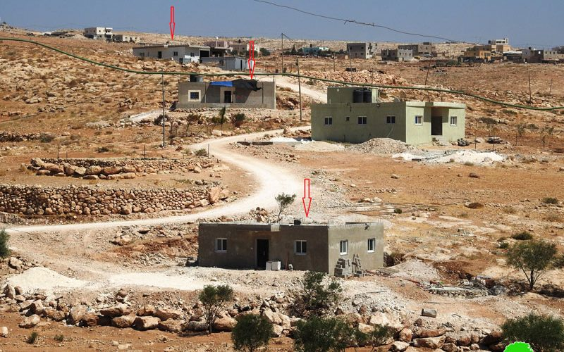Stop-work military orders on houses and a road in Ad-Deirat / Hebron