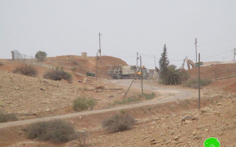 الشروع بتوسعة مدخل معسكر  ناحل وإضافة المزيد من الغرف المتنقلة إليه محافظة طوباس
