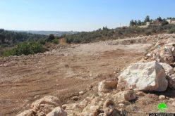 الاحتلال يوقف العمل في مشروع استصلاح زراعي بقرية واد الشاجنة جنوب الخليل
