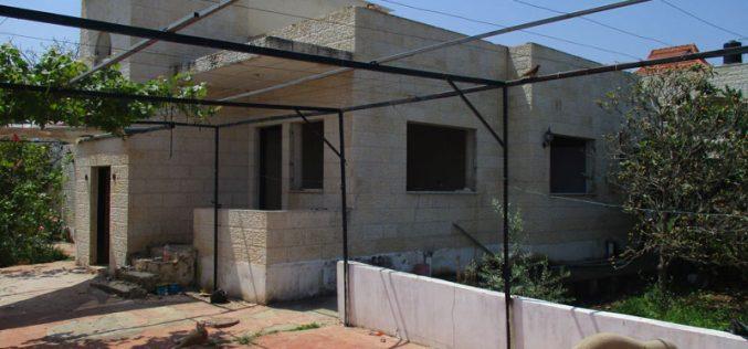 Demolition order of prisoner Ahmad Qamba'a home