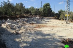 Ravaging a base of an under construction facillity in Deir Istiya/ Salfit city