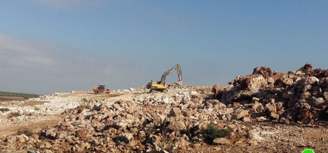 Self- Demolition of an agricultural barracks in Deir Balout town/ Salfit governorate
